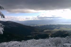 Pohľad z vrchu prvého rúbaniska vo Valachovej nohavici po ochladení