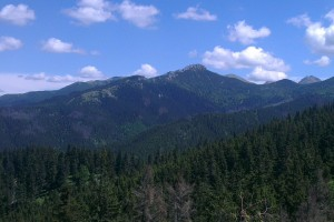 V pozadí záver Suchej doliny