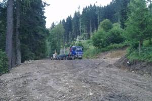 Budovanie otočky pre nákladné auto v Sestrči – lokalita chata Kata