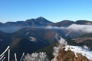 Zimný pohľad na chočské vrchy