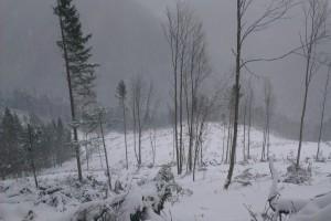 Množstvo snehu bolo v priemere do výšky pása
