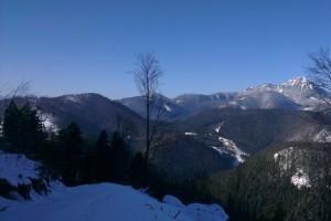 Záber na chočské vrchy